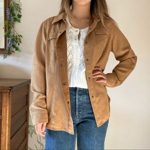 Liz Claiborne suede button down